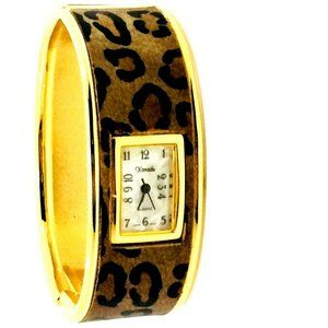 Xanadu Cheetah Leopard Watch Gold Tone Bangle Watc